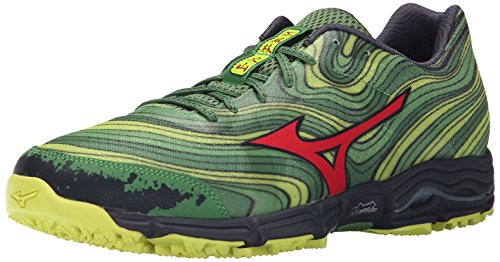 Mizuno Men's Wave Kazan Trail Running Shoe, Mint/Chinese ...