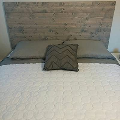 Queen Grey Rustic Wood Headboard, Chic