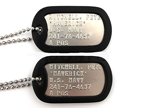 Top Gun MAVERICK Military Stainless Steel Dog Tag Set Prop Halloween Costume (Tootsie Roll Owl Costume)