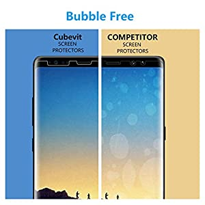 Galaxy Note 8 Screen Protector, Cubevit [Case Friendly] [2 pack] Screen Protector for Samsung Galaxy Note 8, [Bubble Free] [Easy to Install] HD Clear Wet Applied TPU Film Screen Protector for Note 8