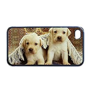 Yellow lab puppies Apple RUBBER iPhone 5 Case / Cover Verizon or At&T Phone Great Gift Idea