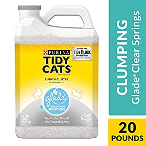 Purina Tidy Cats with Glade Tough Odor Solutions Clear Springs Clumping Cat Litter - (2) 20 lb. Jugs 52