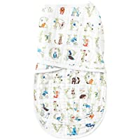 aden + anais easy swaddle, paper tales- S/M
