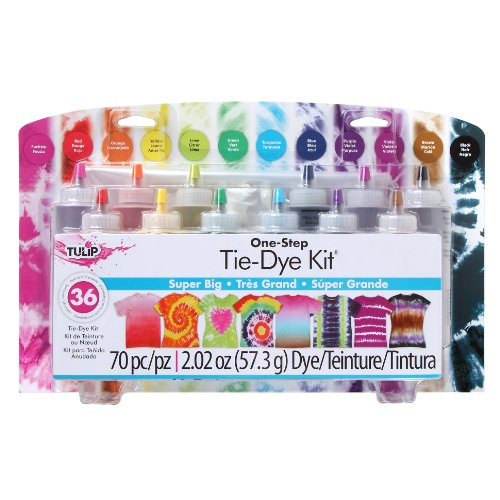 (Tulip one-step tie-dye Kit: Super Big 12 Colors, Tie)