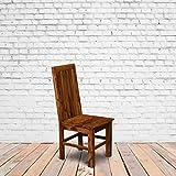Furniture Gully | Sheesham Wood | Modern Wooden Dining Chair in Teak wood Finish