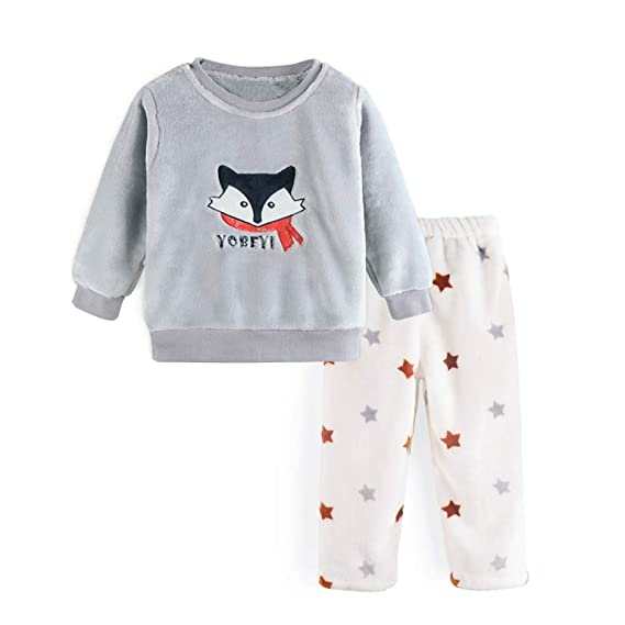 Xyujie Pyjama Enfant Grande Flanelle Enfant Costume De