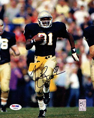 (Autographed Tim Brown Photo - 8x10 Stock #60741 - PSA/DNA Certified - Autographed College Photos)