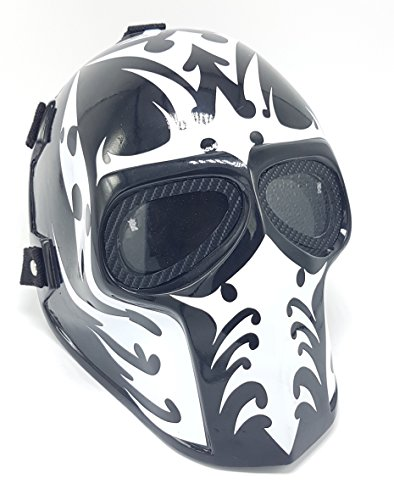 Invader King Airsoft Mask Army of Two Protective Gear Outdoor Sport Fancy Party Ghost Masks Bb Gun (Black
