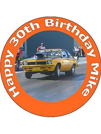 7 5 Drag Racing And Muscle Car Birthday Edible Image Cake Toppers
