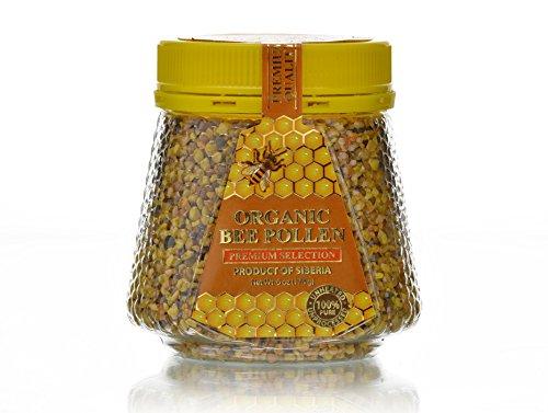 Fresh Siberian Bee Pollen from Taiga, Russia, Natural Source of Energy, 6 oz (174 g) (Organic Bee Pollen)