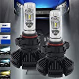 Turbo SII PSX24W 2504 Led Headlight Bulbs 50W 6000LM LED Conversion Kit Halogen and Xenon HID Headlight driving fog lights Replacement Free DIY with 3 Kinds Colorful Film