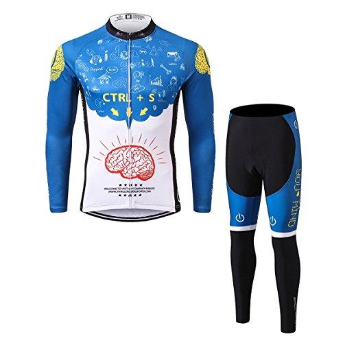足首良性電池Thriller Rider Sports サイクルジャージ メンズ 男性自転車運動服装半袖 Rest Your Mind