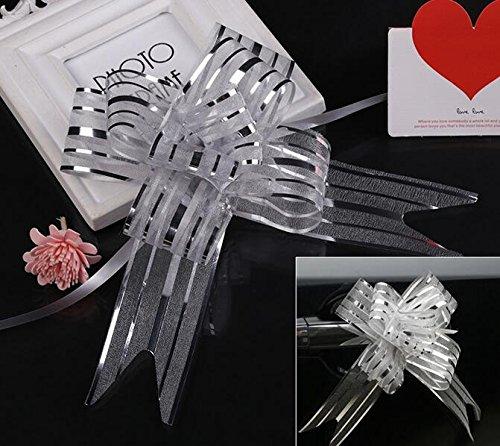 Magicoo 40 Pcs Organza Pull String Bows Wrap Ribbon for Wedd