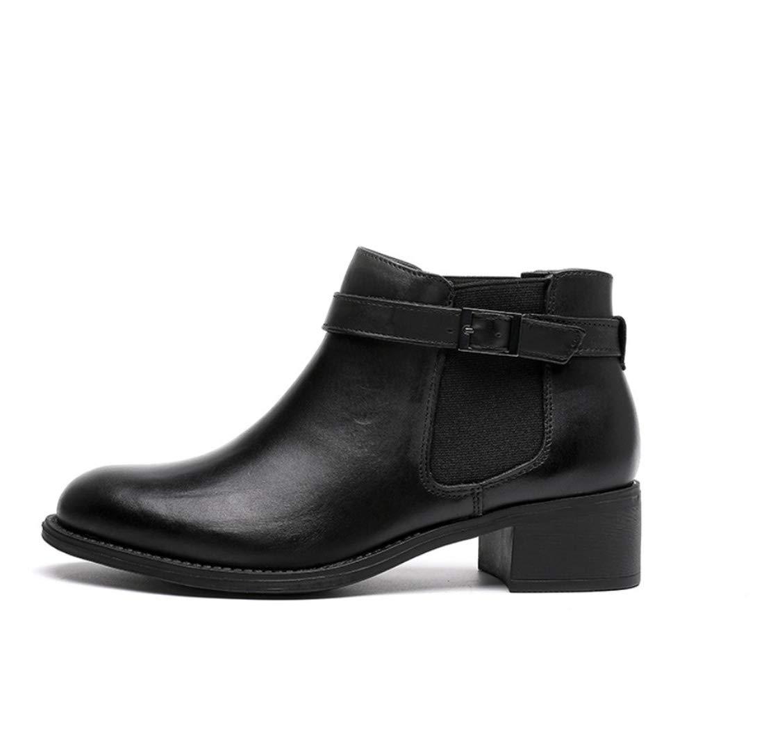 DANDANJIE damen Es Es damen Fall Vintage Elastische Stiefel SchunkeLängen Ferse Runde Zehen Stiefelies Knöchelstiefel aafd3b
