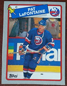 1988-89 Topps Pat LaFontaine #C New York Islanders Box Bottom NHL Hockey Card