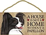 A house is not a home without Papillon (Black and white) - 5