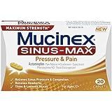 Mucinex Sinus-Max Pressure and Pain Caplets, 20 Count