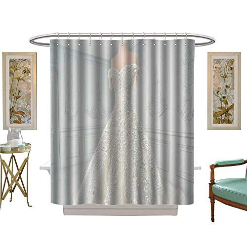 luvoluxhome Shower Curtains with Shower Hooks amaz wedd Dress on a Mannequin Bathroom Accessories W54 x L78
