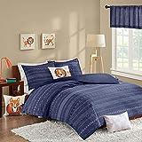 INKIVY Kids Oliver 200TC Comforter Set Navy FullQueen