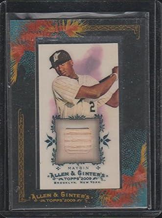 2009 Allen Ginters Cameron Maybin Marlins Game Used Bat Baseball Card