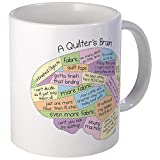 quilting gifts - CafePress - Quilter's Brain Mug - Unique Coffee Mug, Coffee Cup
