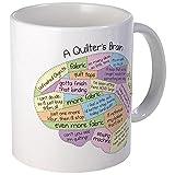 CafePress Quilter's Brain Mug Unique Coffee Mug, Coffee Cup