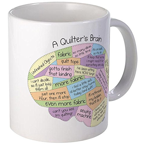 CafePress Quilters Brain Unique Coffee