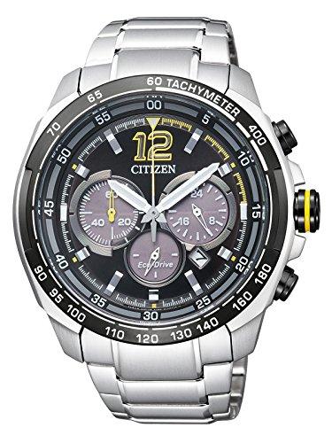 Citizen Herren-Armbanduhr XL Chronograph Quarz Edelstahl CA4234-51E