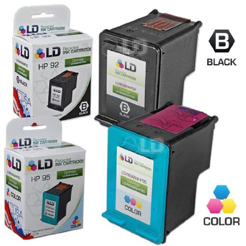 LD Remanufactured Ink Cartridge Replacements for HP 92 & HP 95 (1 Black, 1 Color, 2-Pack) (Hp One Officejet 6310xi All In)