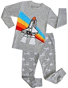 Boys Pajamas Children Christmas Gift Kids Airplane Clothes 100% Cotton Size 2-7