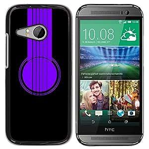YiPhone /// Prima de resorte delgada de la cubierta del caso de Shell Armor - Purple Headphones - HTC ONE MINI 2 / M8 MINI