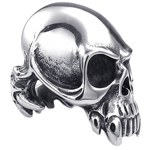 KONOV Stainless Steel Gothic Silver