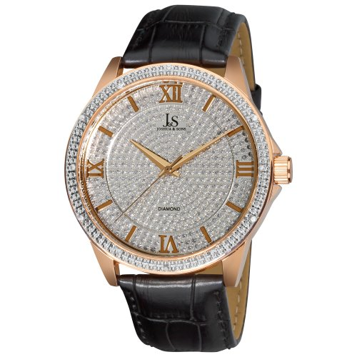 Joshua & Sons Men's JS-19-RG Diamond Quartz Strap Watch