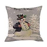 Merry Christmas Throw Pillow Cases Pgojuni Cushion Cover Cotton Linen Pillow Cover 1pc 45cmx45cm (F)