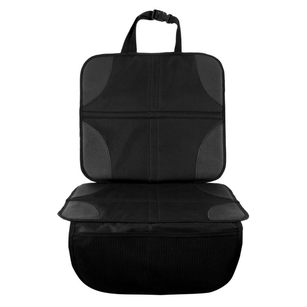 [해외]Wrightjp 카 시트 매트 카 시트 커버 미끄럼 방지기 자동차 보호 시트 커버 수납 주머니 / WRIGHTJP Child seat Mat child seat cover anti-slip protector car protective seat cover with storage pocket