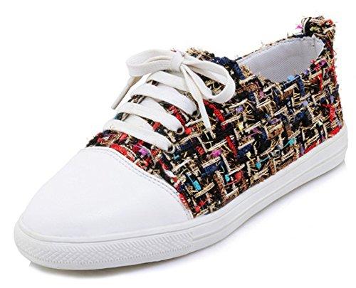 Sneakers Lacer Sport Rond Coloré Femme Bout Aisun Classique Cheville wzqZ8p
