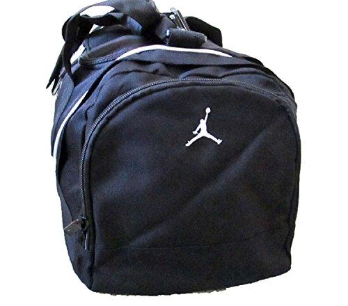 00629f92789f7c Nike Air Jordan Duffel Gym Bag in Black and White 9A1498-210 ...