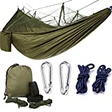 Double Camping Hammock with Hammock Tree Straps, Portable Lightweight and Compact Mosquito Hammocks for Backpacking, Travel, Beach, Yard
