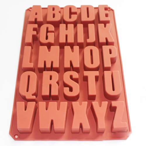 - X-Haibei Alphabet Letter Soap Ice Cube Chocolate Candy Soap Silicone Mold Cake Decoration Pan
