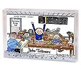 Personalized Friendly Folks Cartoon Snow Globe Frame Gift: Bingo Player - Male Great for bingo player, gambler