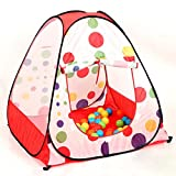 Hi Suyi Baby Kids Portable Foldable Polka Dot Pop Up Playhouse Toys Tent For Outdoor Indoor Pink