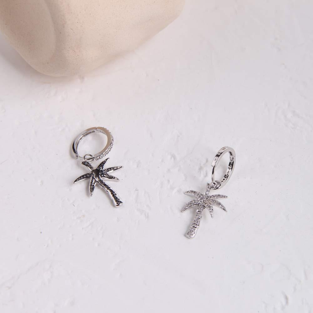 CZ Earrings Silver Cubic Zirconia Earrings CZ Earrings with Small Dangling Jhumkis AD Silver Earrings Silver Plated Lightweight