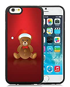 Customized Design iPhone 6 Case,Lovely Christmas Bear Black iPhone 6 4.7 Inch TPU Case 1