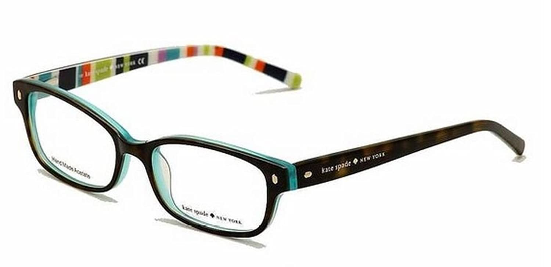 Amazon.com: Kate Spade Lucyann Eyeglasses-0X77 Tortoise Aqua Striped ...