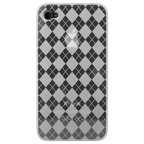 Katinkas KATIP41073 Soft Cover für Apple iPhone 4 Checker klar