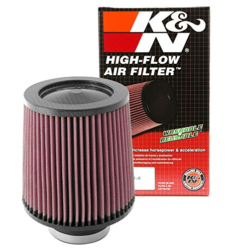 K&N RF-1047 Universal Clamp-On Air Filter: Round Tapered; 3 in (76 mm) Flange ID; 6 in (152 mm) Height; 6 in (152 mm) Base; 5 in (127 mm) Top