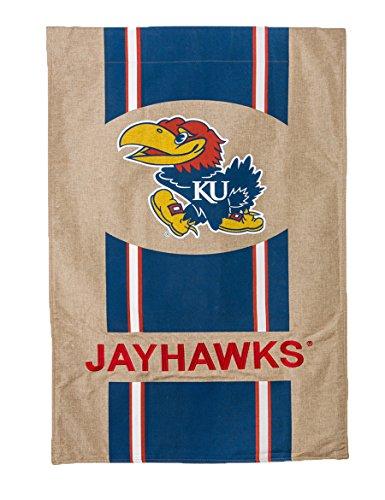 Kansas Jayhawks House (NCAA Burlap House Flag (Kansas Jayhawks))