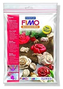Staedtler Fimo Accesoires 8742 36 - Molde para masa Fimo, 7 motivos, diseño rosas