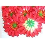 12-BIG-Silk-Orange-Gerbera-Daisy-Flower-Heads-Gerber-Daisies-35-Artificial-Flowers-Heads-Fabric-Floral-Supplies-Wholesale-Lot-for-Wedding-Flowers-Accessories-Make-Bridal-Hair-Clips-Headbands-Dress