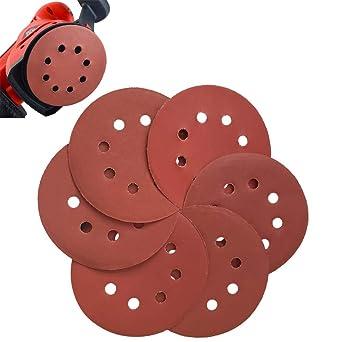 "Round 2/""  60-600# Grit Sanding Paper Sandpaper With 1pc Sander Disc Pad 100Pcs"